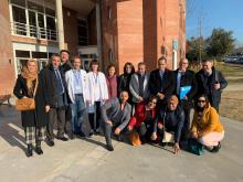 Imatge de la comitiva de la visita del Govern del Marroc al CAP de Cassà de la Selva