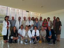 Membres de la junta assistencial de salut mental de l'IAS a l'Hospital Santa Caterina (Parc Hospitalari Martí i Julià de Salt)